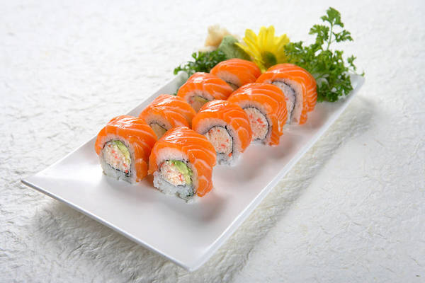 Wasabi Art Print featuring the photograph Salmon Roll by Whitewish