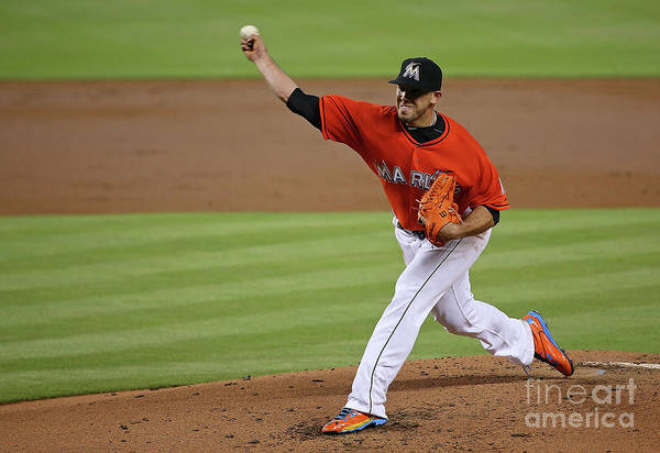 People Art Print featuring the photograph San Francisco Giants V Miami Marlins by Mike Ehrmann