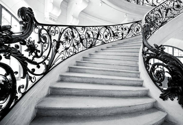 Steps Art Print featuring the photograph Staircase In Paris by Nikada