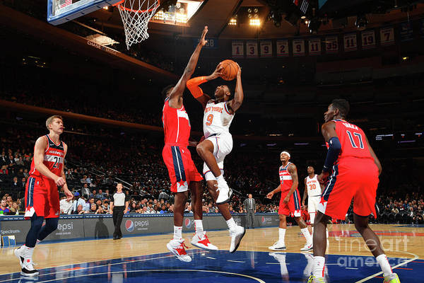 Nba Pro Basketball Art Print featuring the photograph Washington Wizards V New York Knicks by Jesse D. Garrabrant