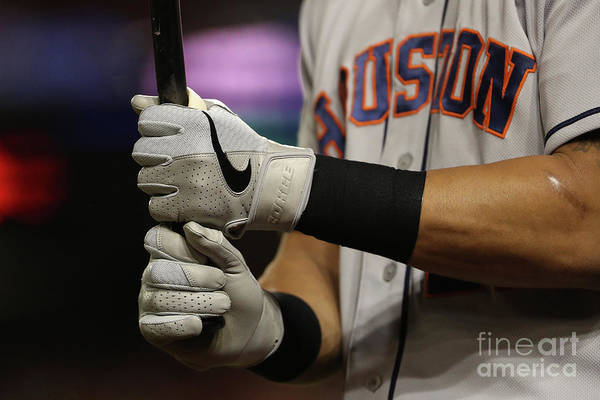 American League Baseball Art Print featuring the photograph World Series - Houston Astros V by Patrick Smith
