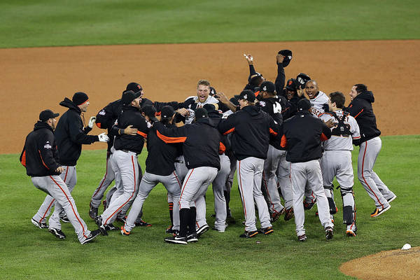 American League Baseball Art Print featuring the photograph World Series - San Francisco Giants V by Christian Petersen