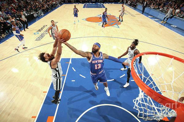 Nba Pro Basketball Art Print featuring the photograph San Antonio Spurs V New York Knicks by Nathaniel S. Butler