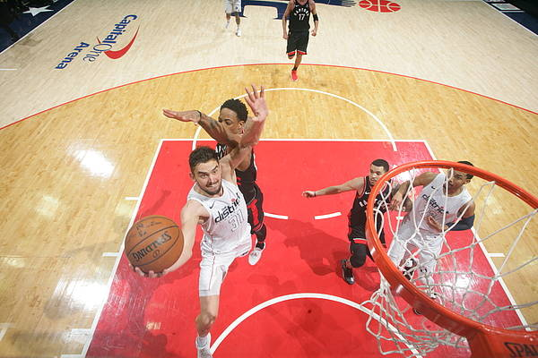 Nba Pro Basketball Art Print featuring the photograph Toronto Raptors V Washington Wizards by Ned Dishman