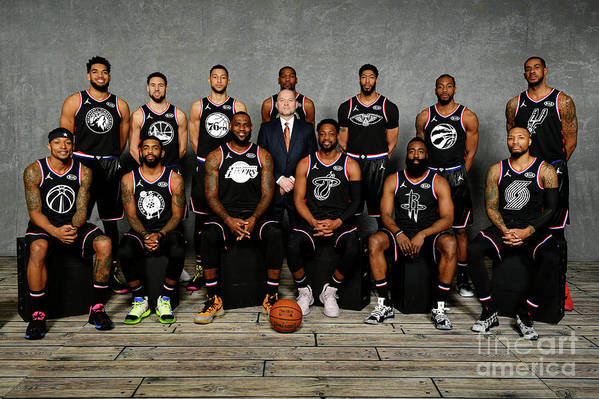 Nba Pro Basketball Art Print featuring the photograph 2019 Nba All Star Portraits by Jesse D. Garrabrant