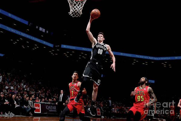 Nba Pro Basketball Art Print featuring the photograph Atlanta Hawks V Brooklyn Nets by Nathaniel S. Butler
