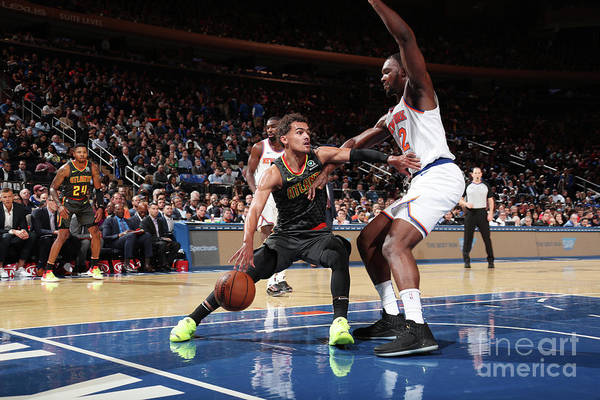 Nba Pro Basketball Art Print featuring the photograph Atlanta Hawks V New York Knicks by Nathaniel S. Butler