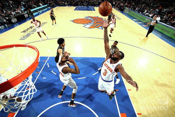 Tim Hardaway Jr. Art Print featuring the photograph Brooklyn Nets V New York Knicks by Nathaniel S. Butler