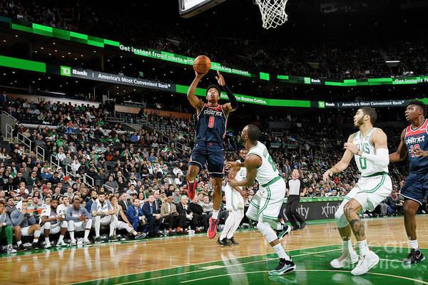 Nba Pro Basketball Art Print featuring the photograph Washington Wizards V Boston Celtics by Brian Babineau