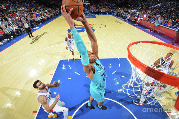 Nba Pro Basketball Art Print featuring the photograph Charlotte Hornets V Philadelphia 76ers by Jesse D. Garrabrant