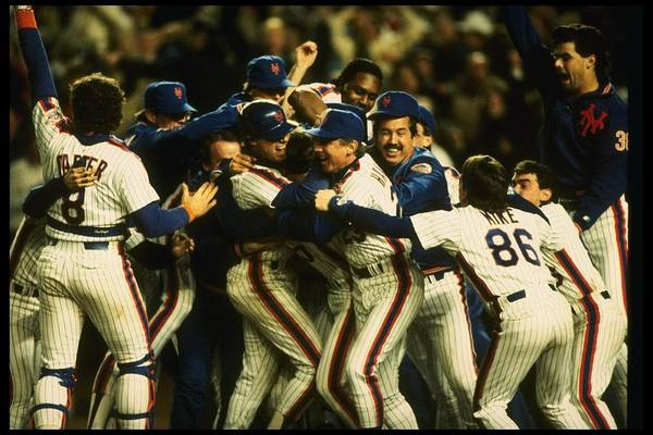 1980-1989 Art Print featuring the photograph 1986 World Series Mets by T.g. Higgins