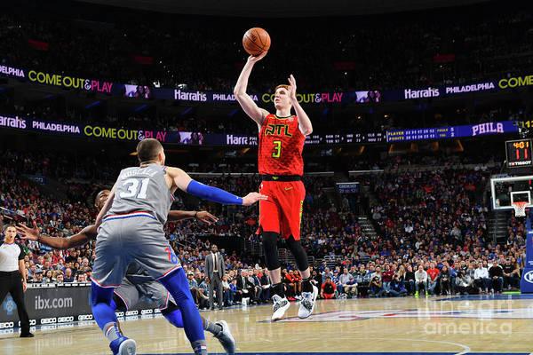 Nba Pro Basketball Art Print featuring the photograph Atlanta Hawks V Philadelphia 76ers by Jesse D. Garrabrant