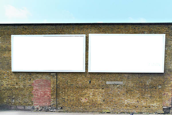 Empty Art Print featuring the photograph 2 Blank Billboards by Ben Richardson