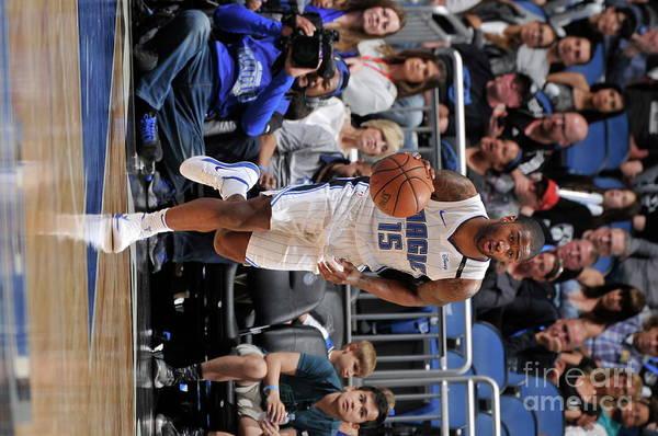 Nba Pro Basketball Art Print featuring the photograph Brooklyn Nets V Orlando Magic by Gary Bassing