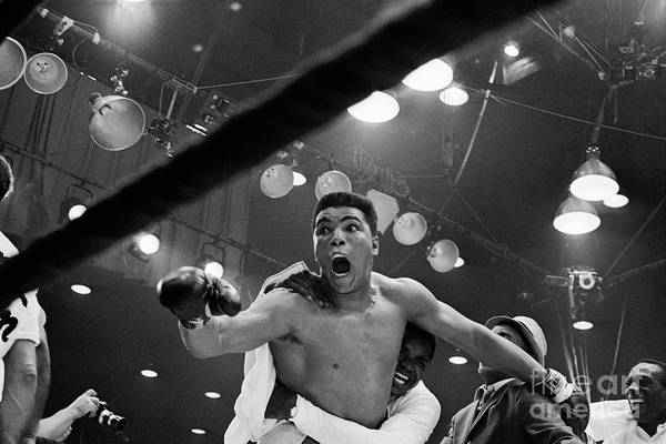 People Art Print featuring the photograph Cassius Clay After Winning Championship by Bettmann