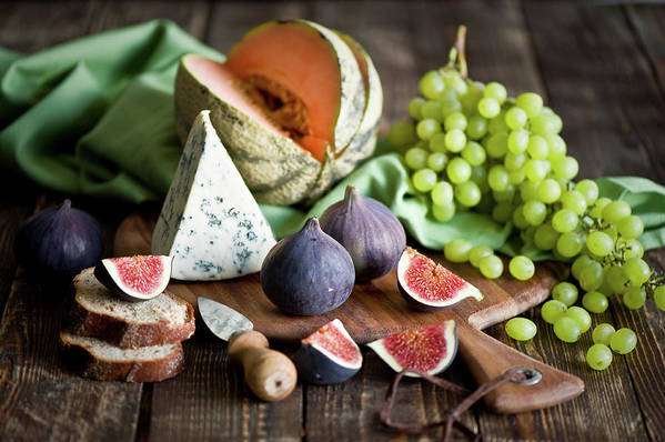 Large Group Of Objects Art Print featuring the photograph Cheese Board by Verdina Anna