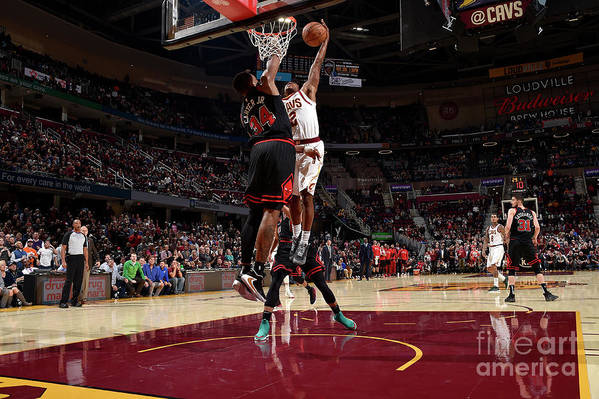 Nba Pro Basketball Art Print featuring the photograph Chicago Bulls V Cleveland Cavaliers by David Liam Kyle