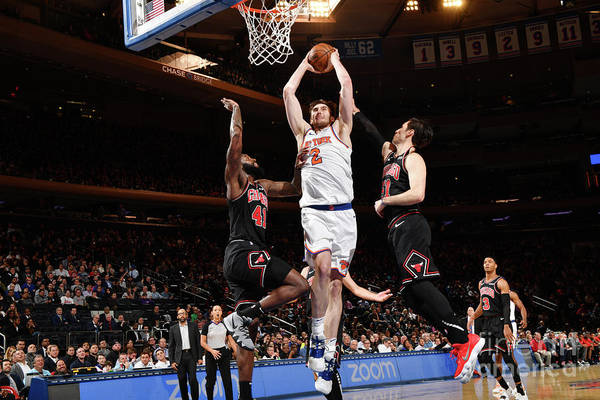 Nba Pro Basketball Art Print featuring the photograph Chicago Bulls V New York Knicks by Jesse D. Garrabrant