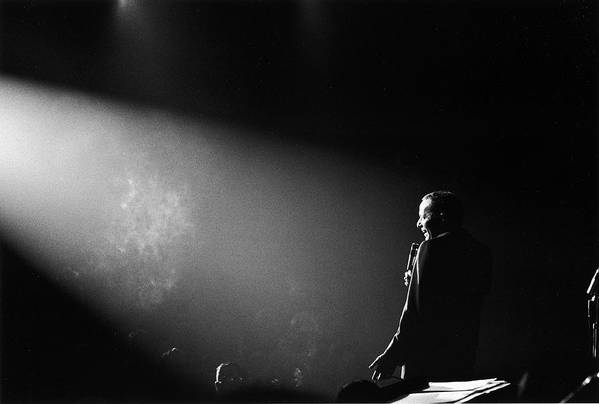 Timeincown Art Print featuring the photograph Entertainer Frank Sinatra Performing On by John Dominis
