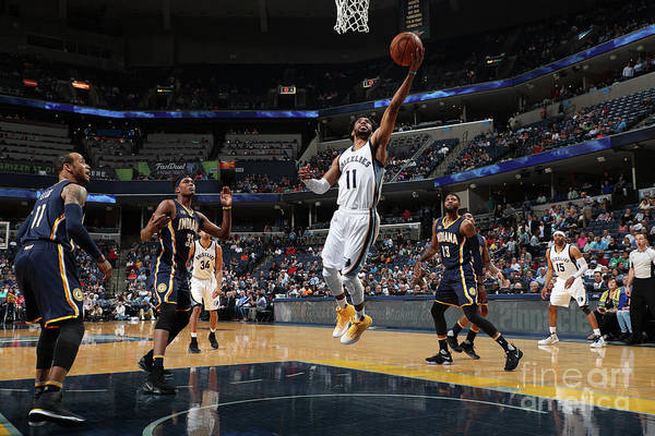 Nba Pro Basketball Art Print featuring the photograph Indiana Pacers V Memphis Grizzlies by Joe Murphy