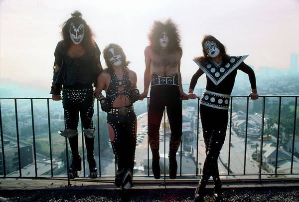 Rock Music Art Print featuring the photograph Kiss Portrait Session In La by Michael Ochs Archives