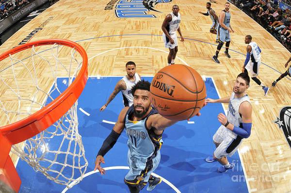 Nba Pro Basketball Art Print featuring the photograph Memphis Grizzlies V Orlando Magic by Fernando Medina