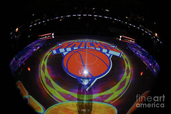Nba Pro Basketball Art Print featuring the photograph Sacramento Kings V New York Knicks by Nathaniel S. Butler