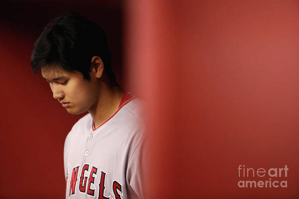People Art Print featuring the photograph Los Angeles Angels Of Anaheim V Arizona by Christian Petersen