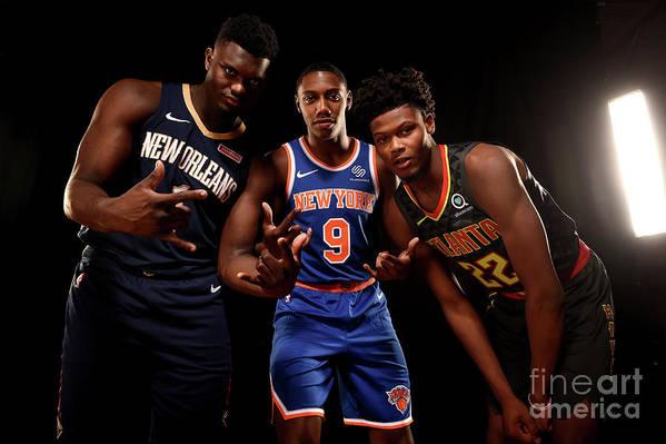 Nba Pro Basketball Art Print featuring the photograph 2019 Nba Rookie Photo Shoot by Brian Babineau