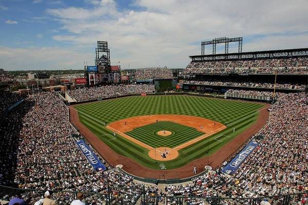 National League Baseball Art Print featuring the photograph San Francisco Giants V Colorado Rockies by Doug Pensinger