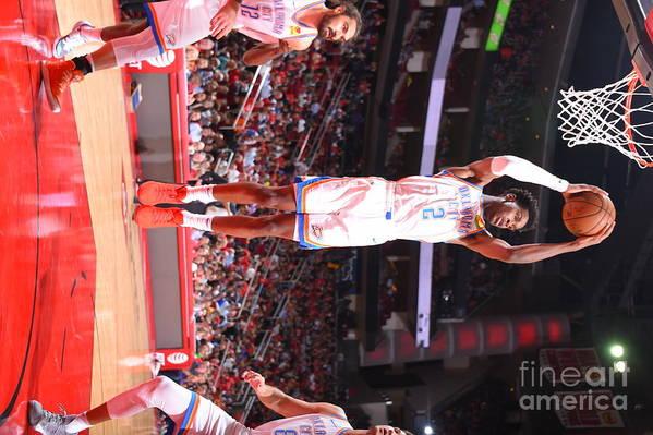 Nba Pro Basketball Art Print featuring the photograph Oklahoma City Thunder V Houston Rockets by Bill Baptist