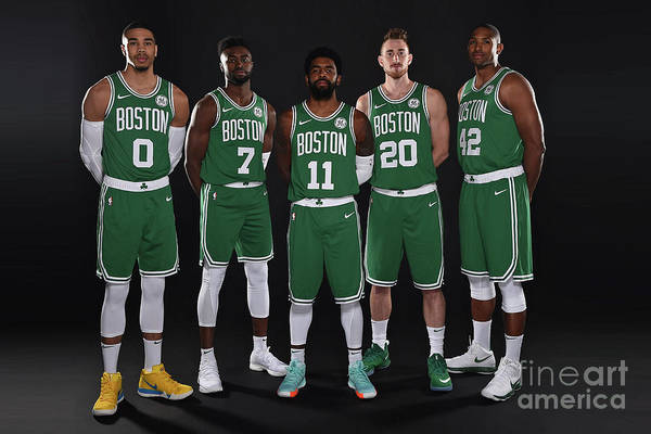 Media Day Art Print featuring the photograph 2018-19 Boston Celtics Media Day by Brian Babineau