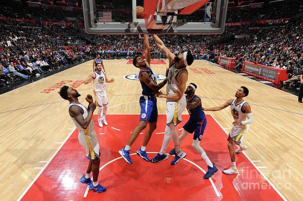 Nba Pro Basketball Art Print featuring the photograph Golden State Warriors V La Clippers by Andrew D. Bernstein
