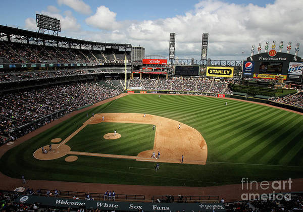 Shadow Art Print featuring the photograph Kansas City Royals V Chicago White Sox by Jonathan Daniel