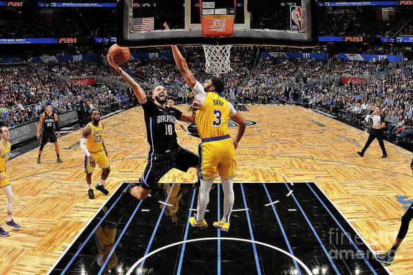 Nba Pro Basketball Art Print featuring the photograph Los Angeles Lakers V Orlando Magic by Fernando Medina
