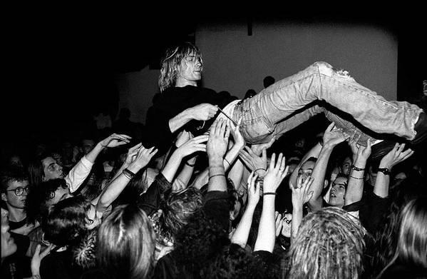 Singer Art Print featuring the photograph Nirvana Perform Live In Frankfurt by Paul Bergen