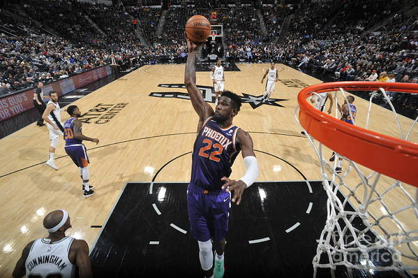 Nba Pro Basketball Art Print featuring the photograph Phoenix Suns V San Antonio Spurs by Mark Sobhani