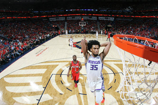Smoothie King Center Art Print featuring the photograph Sacramento Kings V New Orleans Pelicans by Layne Murdoch Jr.