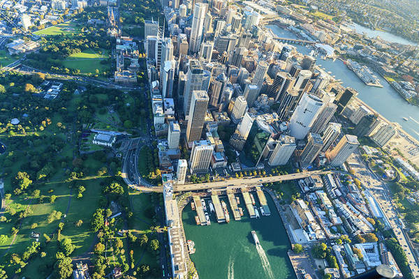 Shadow Art Print featuring the photograph Sydney Downtown - Aerial View by Btrenkel