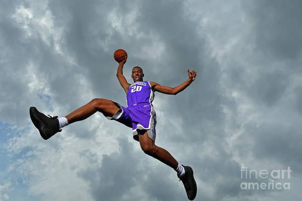 Nba Pro Basketball Art Print featuring the photograph 2017 Nba Rookie Photo Shoot by Jesse D. Garrabrant