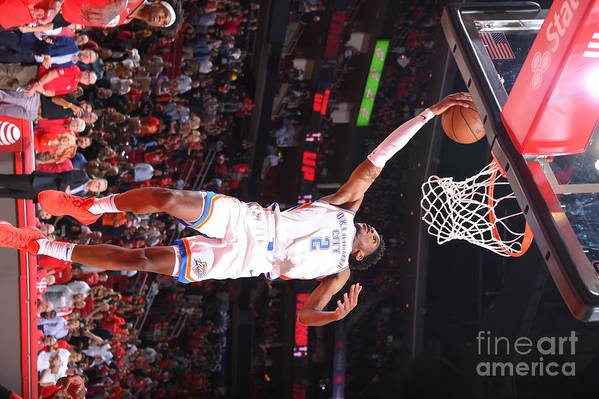 Nba Pro Basketball Art Print featuring the photograph Oklahoma City Thunder V Houston Rockets by Bill Baptist