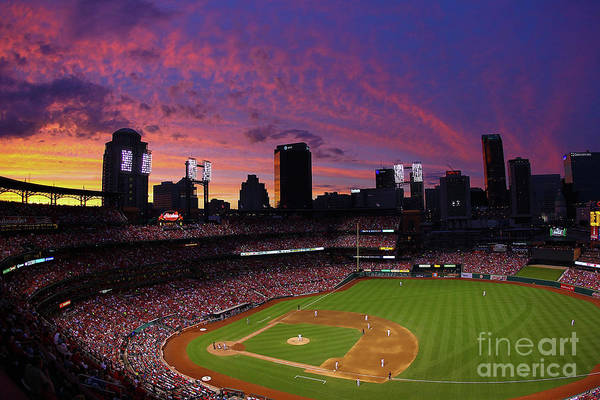 St. Louis Art Print featuring the photograph Arizona Diamondbacks V St. Louis by Dilip Vishwanat