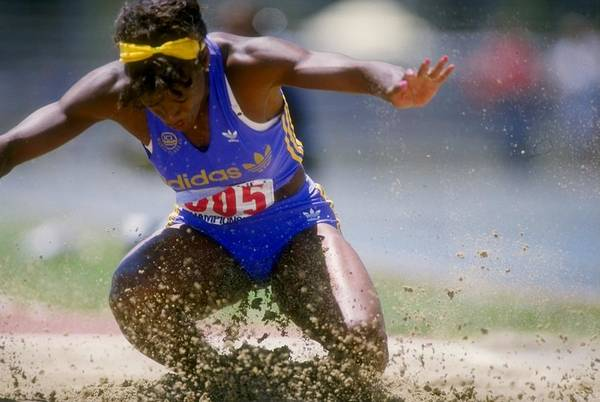 Long Art Print featuring the photograph Jackie Joyner-kersee by Tony Duffy