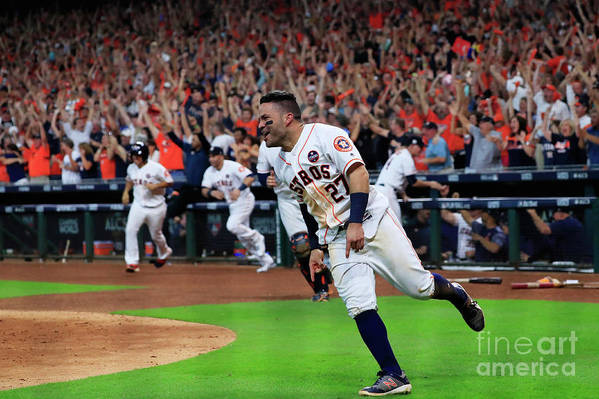 Game Two Art Print featuring the photograph League Championship Series - New York by Ronald Martinez