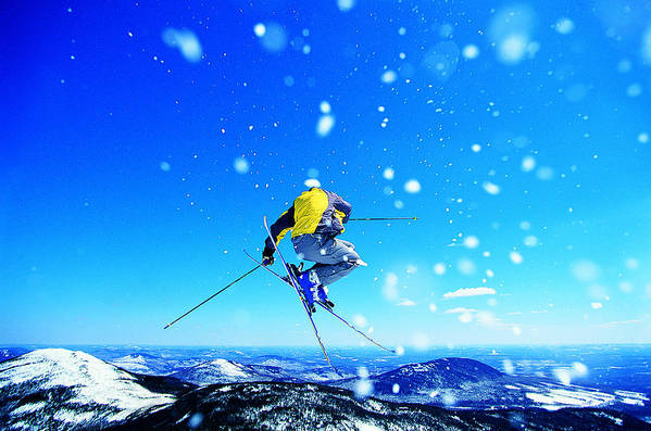 Skiing Art Print featuring the photograph Man Skiing by Digital Vision.