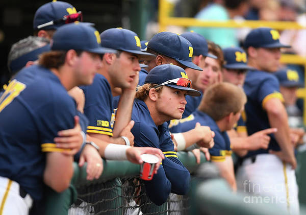 People Art Print featuring the photograph Michigan V Ucla - Game One by Jayne Kamin-oncea