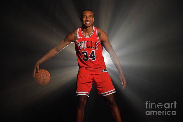 Nba Pro Basketball Art Print featuring the photograph 2018 Nba Rookie Photo Shoot by Jesse D. Garrabrant