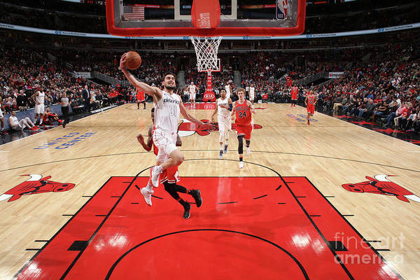 United Center Art Print featuring the photograph Washington Wizards V Chicago Bulls by Gary Dineen