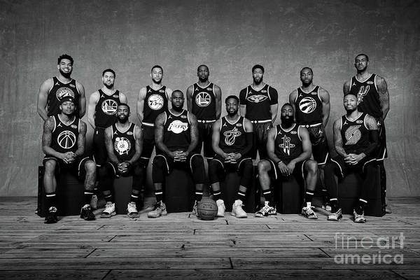 Nba Pro Basketball Art Print featuring the photograph 2019 Nba All Star Portraits by Jesse D. Garrabrant