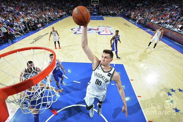 Playoffs Art Print featuring the photograph Brooklyn Nets V Philadelphia 76ers - by Jesse D. Garrabrant